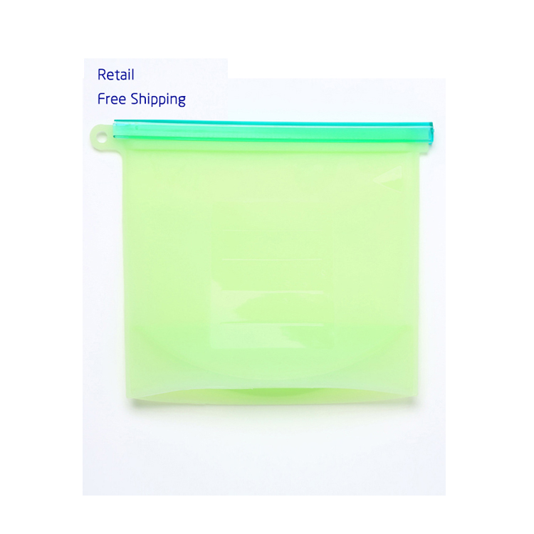 Amazon Hot Selling 1000 ML Reusable Silicone Bag For Food Storage Bag