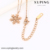 necklace-00054 wholesale high-quality xuping fashion necklace Snowflake shape ladies necklace