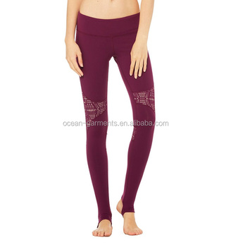 Neue Damen Slim Workout Nahtlose Yoga-Hose in voller Länge