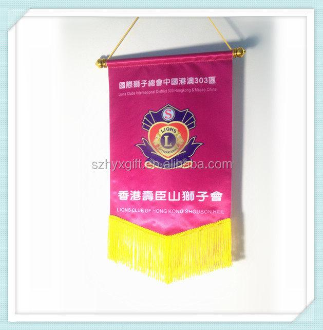 World cup Polyester Printing Rectangle Soccer/football Pennants