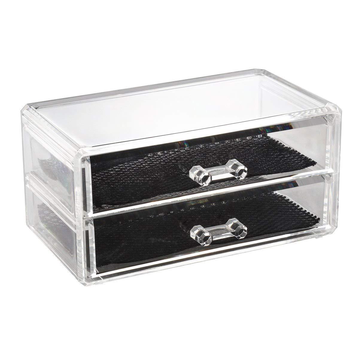 Get Quotations · Acrylic Transparent Makeup Storage Organizer Makeup  Organizer For Bathroom Makeup Organizer For Desk