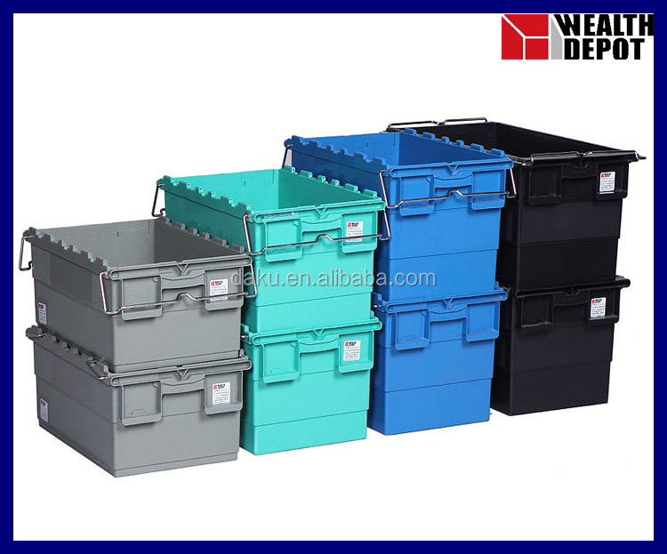 Plastic Storage Tote with Bars