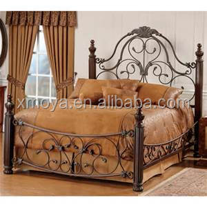 wrought iron double bedroom bed design