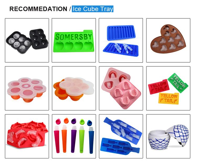 Food grade Fruit vorm custom groothandel siliconen ijsbakje