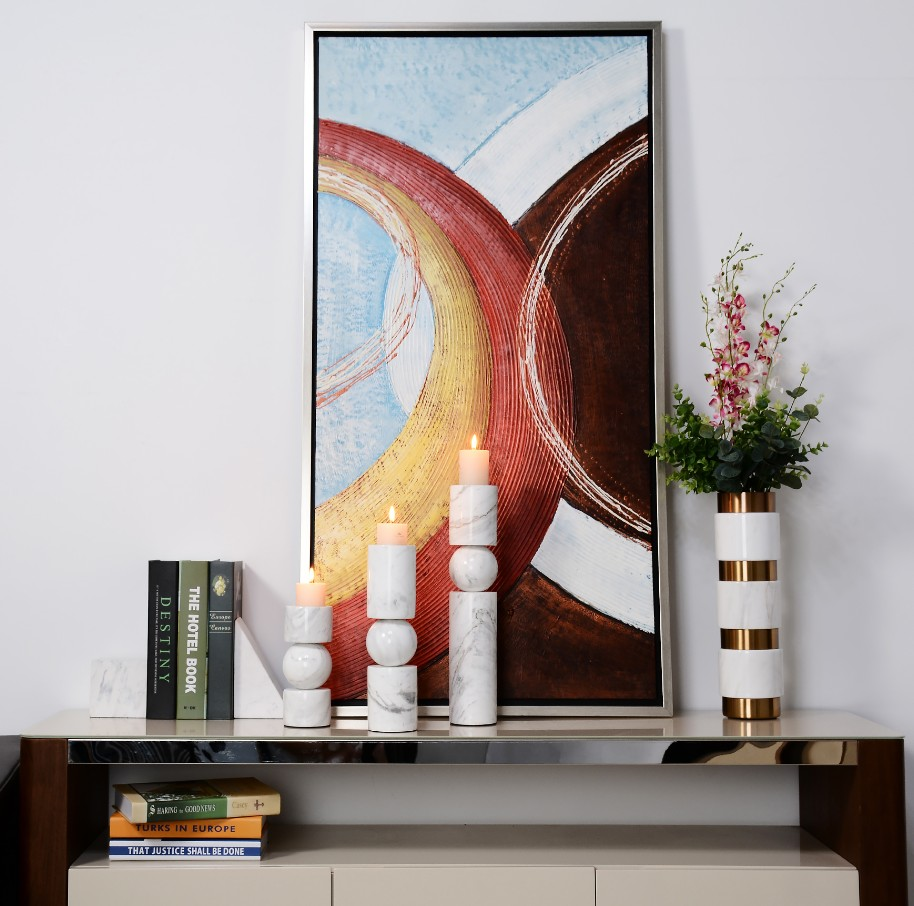 Marble Cylindrical Candle Holders candlestick