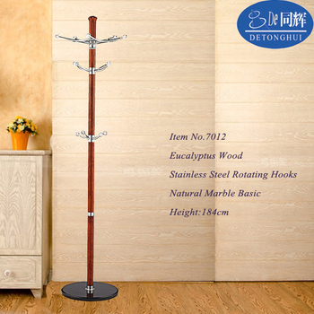 Tree Shaped Wooden Wall Mounted Coat Rack