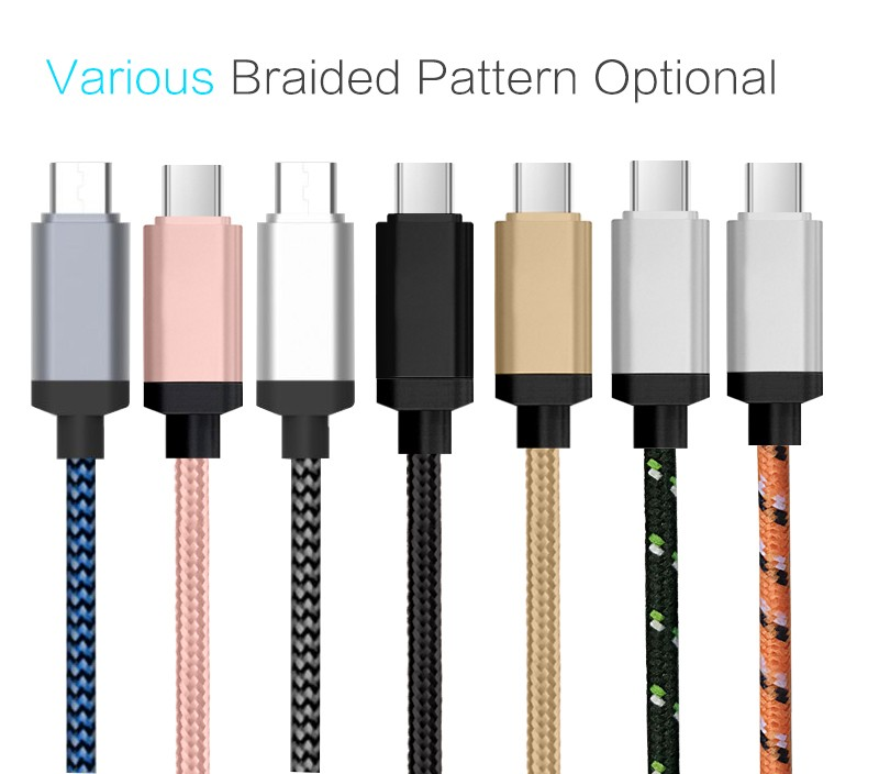 Type c cable Nylon Braided usb type c cable 3.1 5a usb if certified