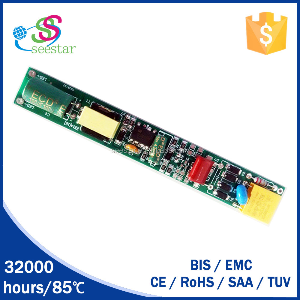 5W 10W 18W Constant Current T8 Led Tube Driver DC Output High pf>0.95 led driver t5 t8 lights power supply shenzhen supplies