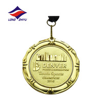 Hot Sale Cheap Custom OEM 2D,3D Design Shield Shaped Medal With Custom Ribbon