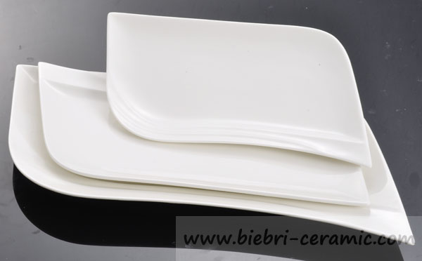 Plain White Color Rectangular Rectangle Oblong Porcelain China Plates And Dishes & Plain White Color RectangularRectangleOblong Porcelain China ...