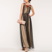 Mulia Applique Maxi Wanita <span class=keywords><strong>Gaun</strong></span> Pesta Panjang <span class=keywords><strong>Pernikahan</strong></span> Evening