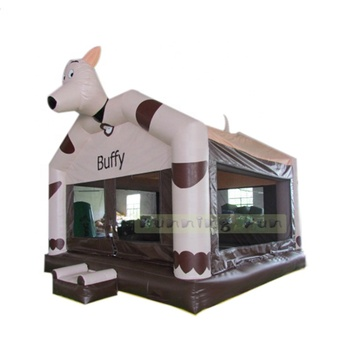 Popular cow inflatable combo jumping house for kids