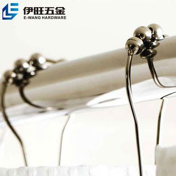 manufacture plastic beads shower curtain hooks
