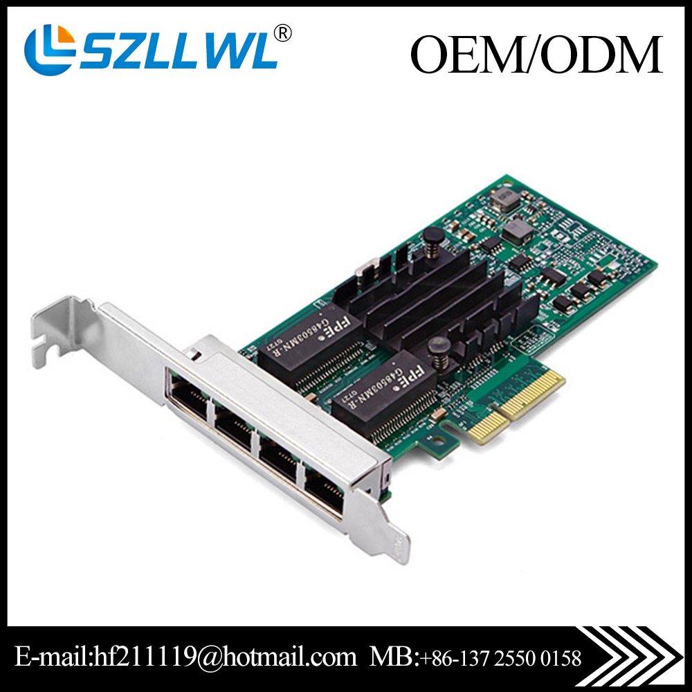 Wired Intel I350-t4 Pci Express Network Card 4 Port For Desktop ...