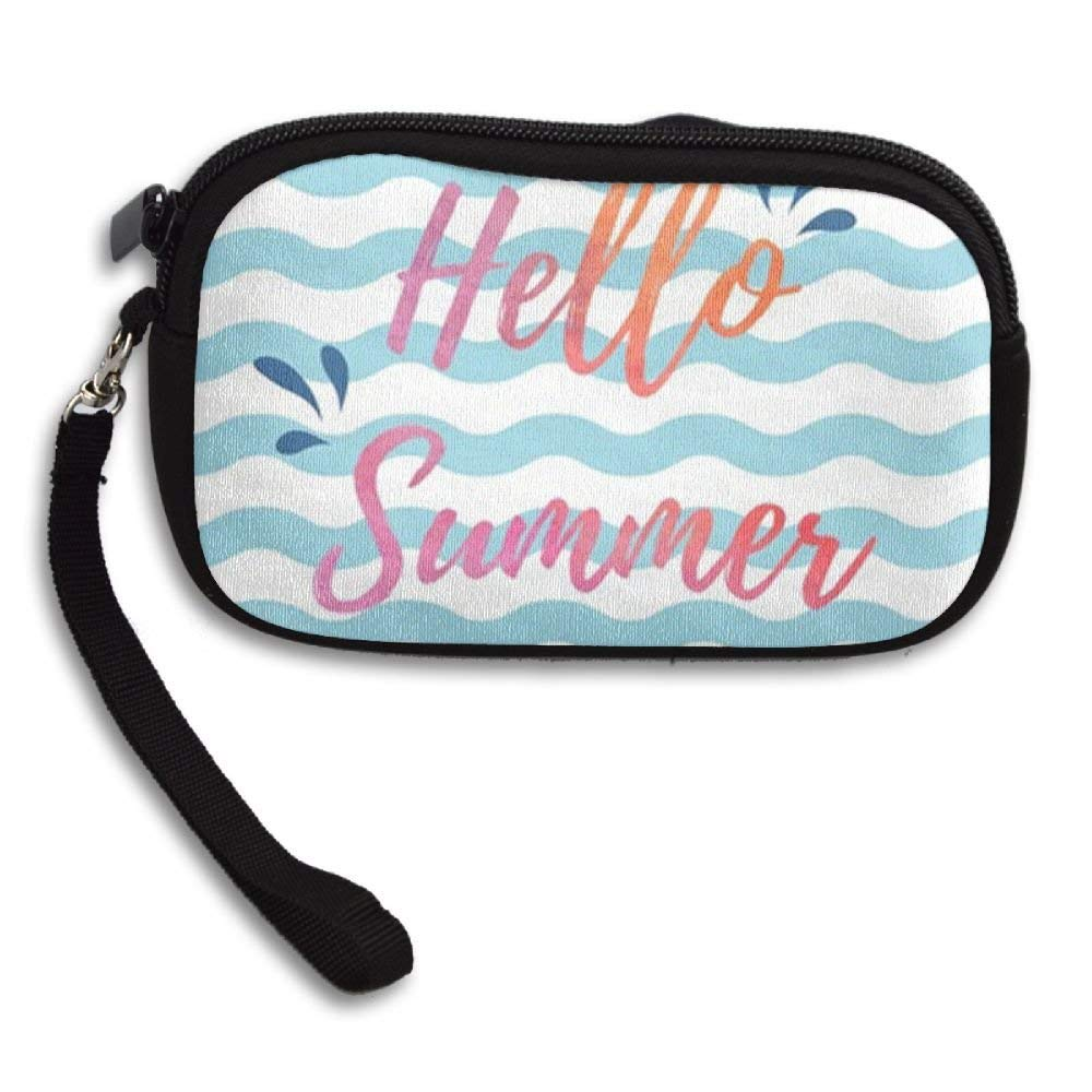 03f3647c21f2 Get Quotations · CMTRFJ Unisex Wallet for Woman Ladies  -Hello-Summer-Blue-and-White