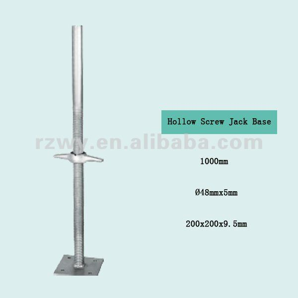 Scaffold Pipe Hollow Screw Jack Base