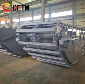 Trade Assurance Amphibious Excavator Undercarriage Pontoon Hydraulic Extendable and Retracted GET210H