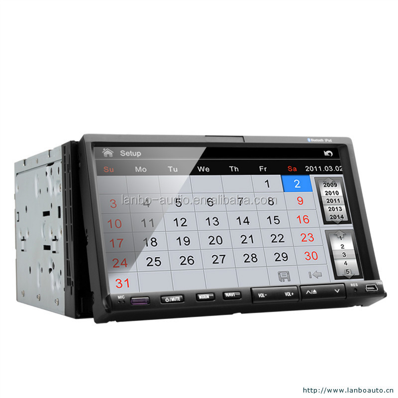 Touch screen car dvd player for fiat 500 with AVI video format
