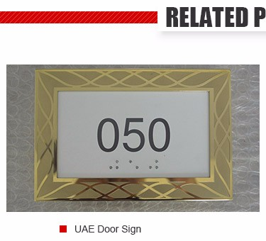big sale door number acrylic metal sign