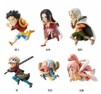 New Products Hot Cartoon Figures Toy 6 Designs One Piece Running Style Model Toy Anime PVC Action Figure Set 6-9cm