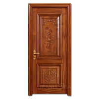 Antique Chinese style solid teak interior single swing wood door designs