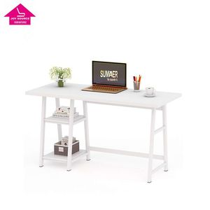 Large Smsrt Computer Desk with Reversible Storage Shelves Modern Writing Desk PC Laptop Study Table for Home