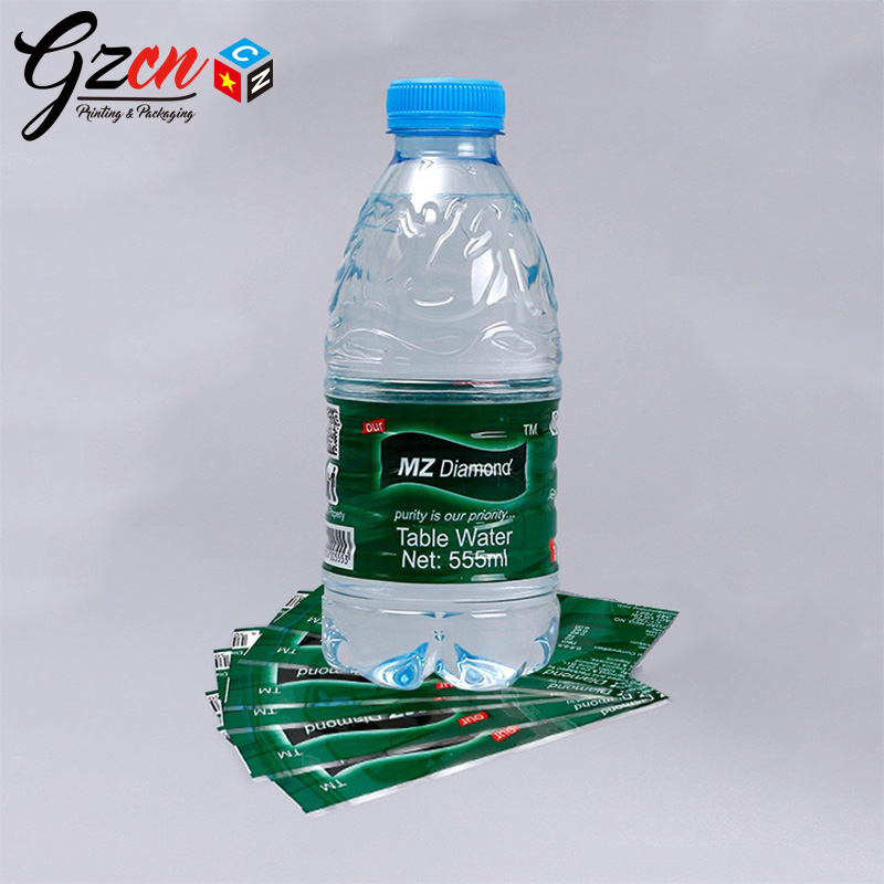China cheap price bopp by roll custom water bottle sleeve label