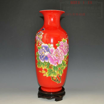 Beautiful China Red Ceramic Porcelain Vases With Lots Of Designs For ...