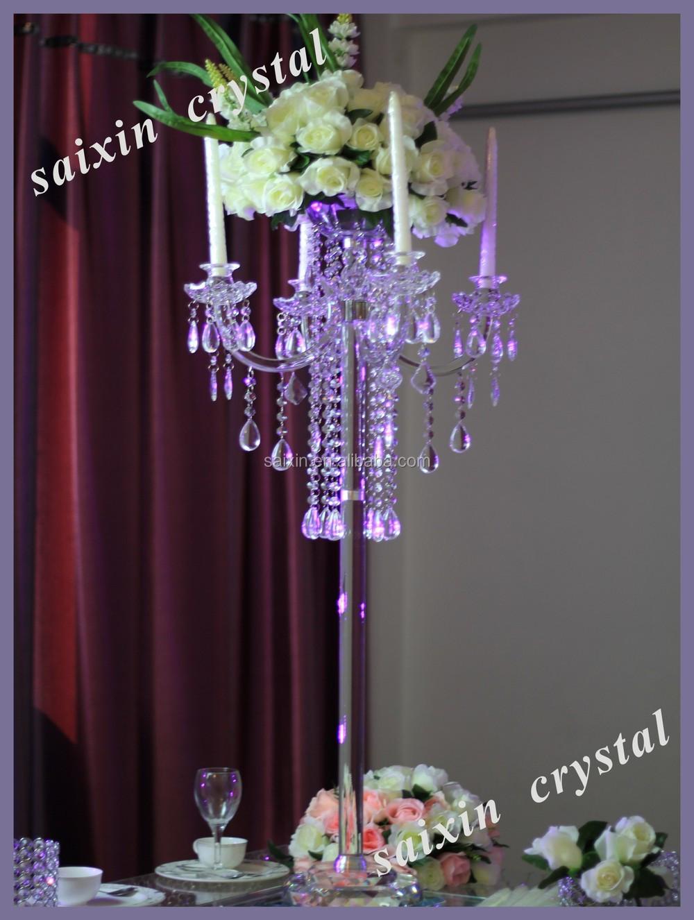 Unique Crystal Candelabra Centerpieces For Wedding Table Decoration ZT 185