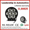 70 watt Cree led work lamp led car accessories driving light SUV Boat Driving Lamp Flood and Spot