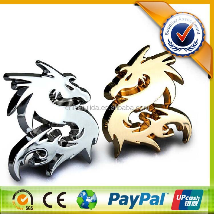 2015 New Products Car Logo 3d Stickers Custom Car Badge,Dragon Logo Badge