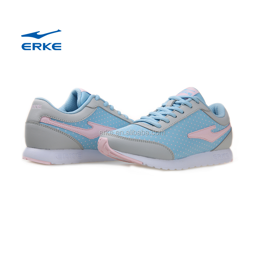 8d96bc7e36b6 Erke Womens Brand Running Shoes With Cute Dot Girls Fashion Sports Shoes  Lightweight Sneaker Rose/blue For Wholesale - Buy Women Running Shoes,Girls  ...