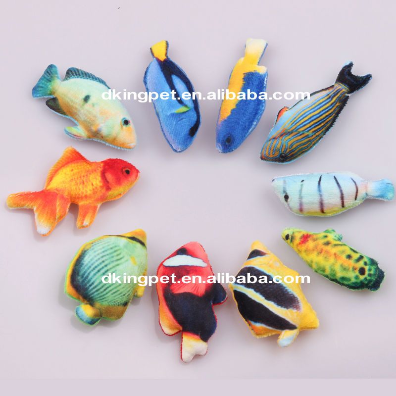Best Price China Factory Fish Toy Plush Cat Toys
