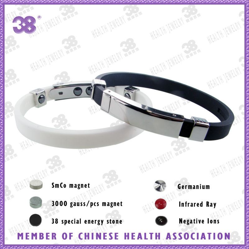 Neodymium magnets bio magnetic leather bracelet