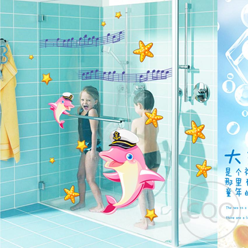 Sea fish de dibujos animados etiqueta de la pared para ...