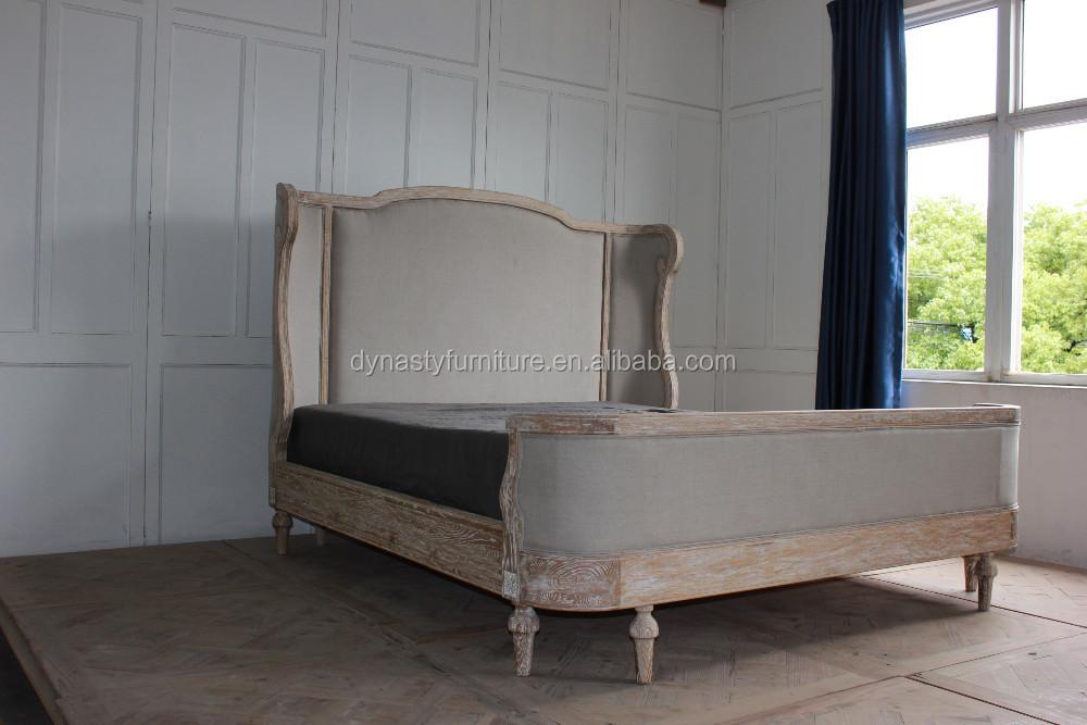 Única de madera muebles de dormitorio antiguo reina tamaño cama ...