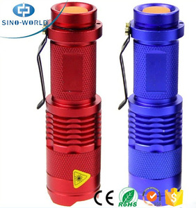 18650 battery + High Quality Cr ee Q5 / T6 Zoomable waterproof long distance fast track wide angle led flashlight