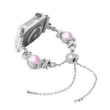Женский браслет iWatch, браслет ремешок ручной работы с кристаллами и стразами для Apple Watch 4 3 2 1(China)