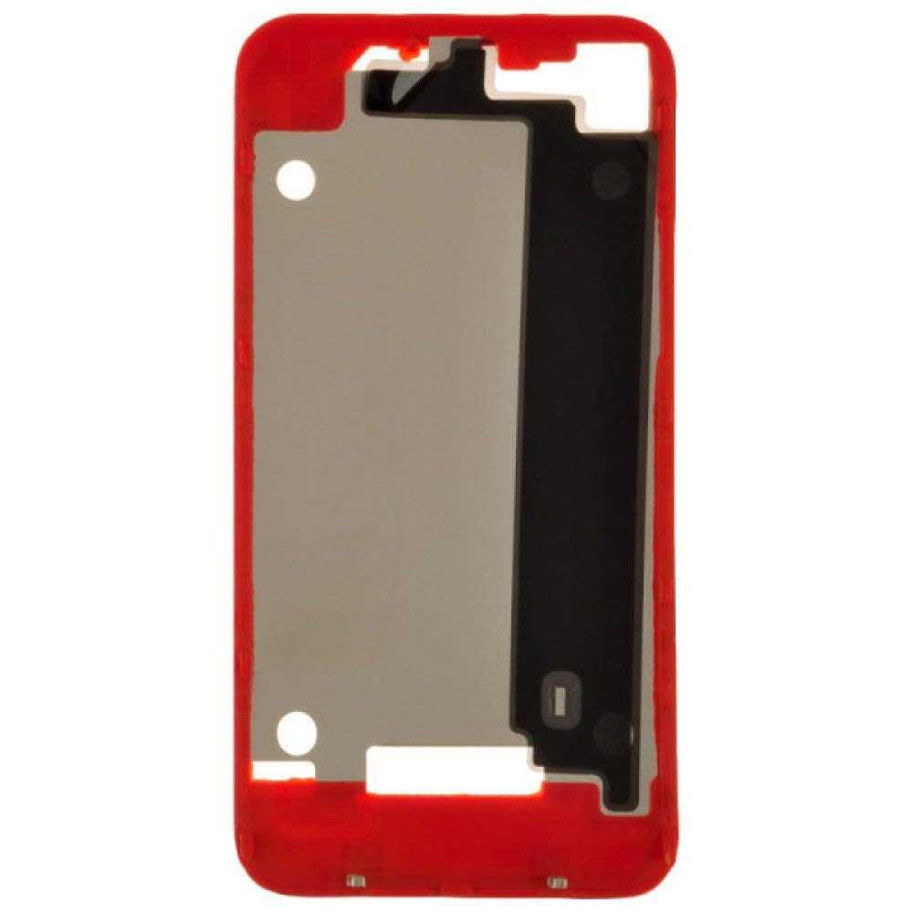 Door Frame for Apple iPhone 4 (GSM) (Red) with Glue Card