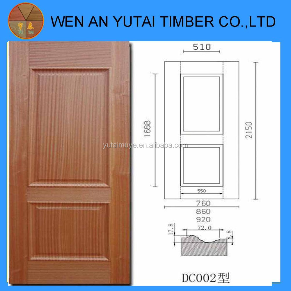 new design interior door molded wood veneer door skin  Plywood door skin