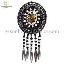 Handwerk Oval Design Stickerei Kabel Applique Perlen Quaste Fringe Flecken  Nähen Auf Hut Taschen Kleidung Dekoration