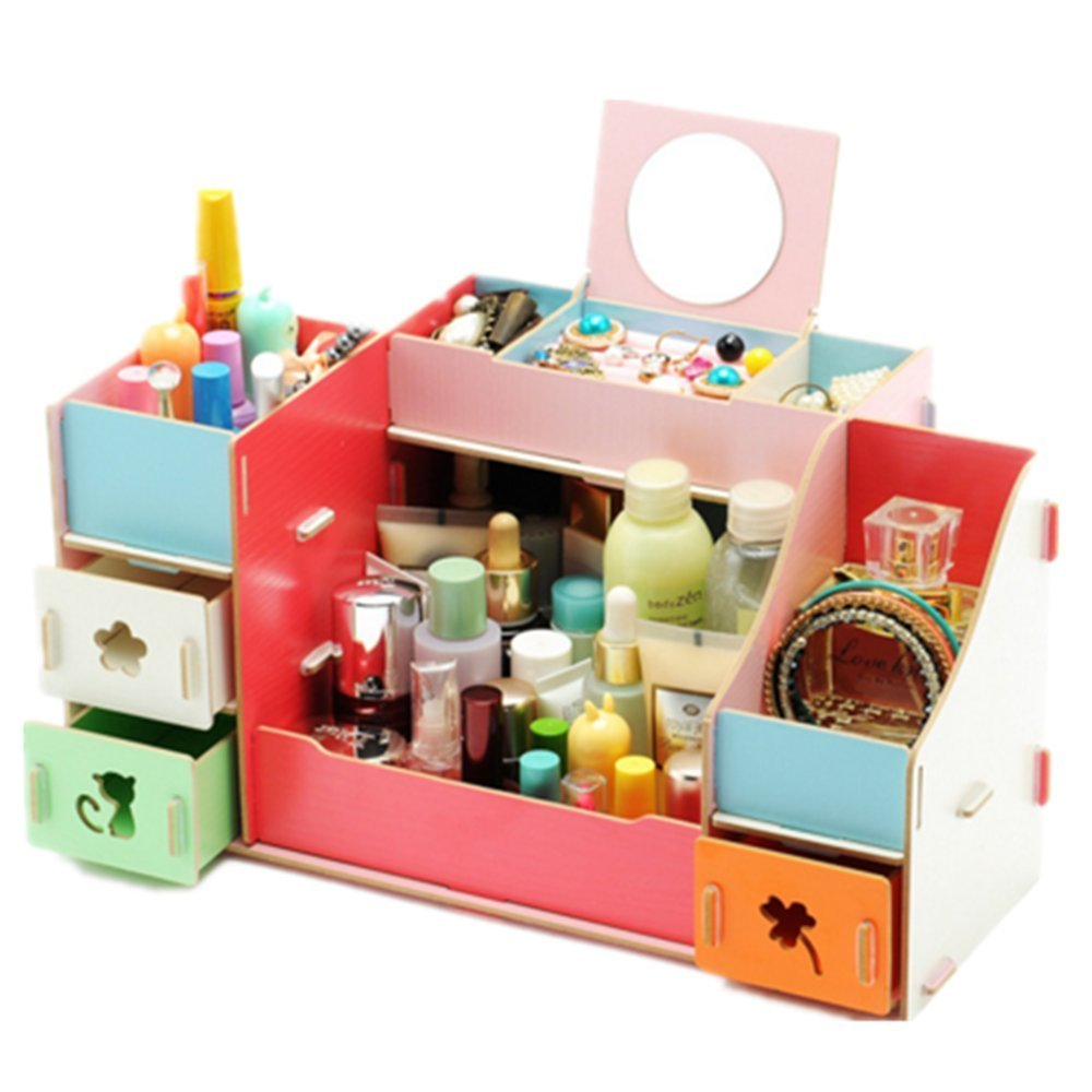 507b9c20fea5 Buy Creative Colorful Fashion Removable Wooden DIY Cosmetic Storage ...