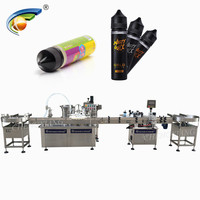 NEW design 220V/380V 60ml round pet bottle e liquid filling machine for vape ejuice with video