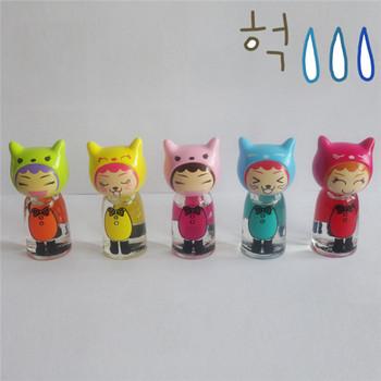 7ml Cartoon Cute Gl Nail Polish Bottle Doll Cap For Children