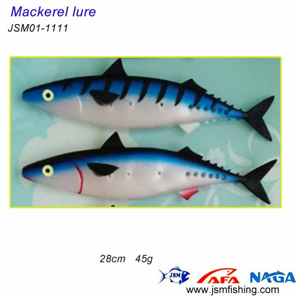 China 28cm Mackerel Soft Plastic Fishing Lure Sample For Trolling ...
