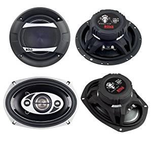 "2)New Boss PC65.2C 6.5"" 500W 2-Way + 2) Boss P694C 6x9"" 800W 4-Way Car Speakers"