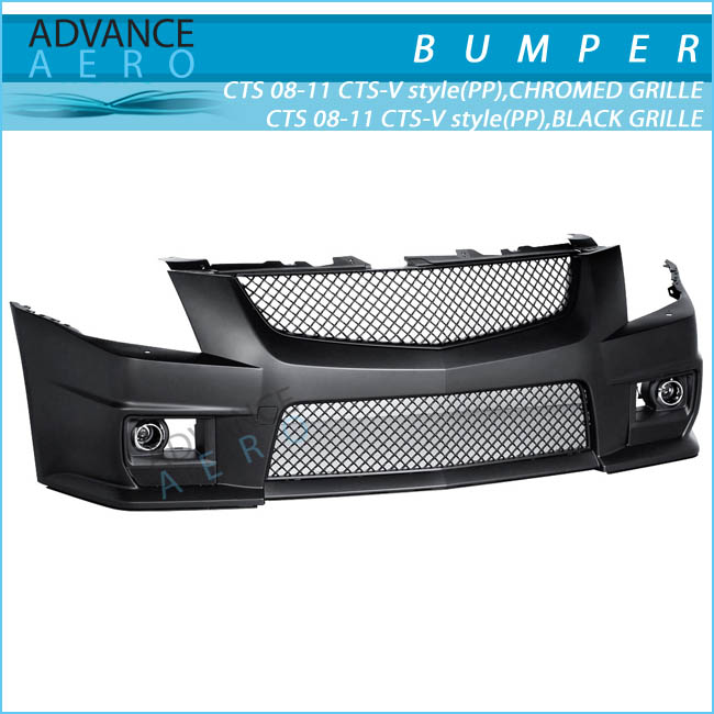 For 08 09 10 11 12 Cadillac Cts Black/chrome Front Bumper