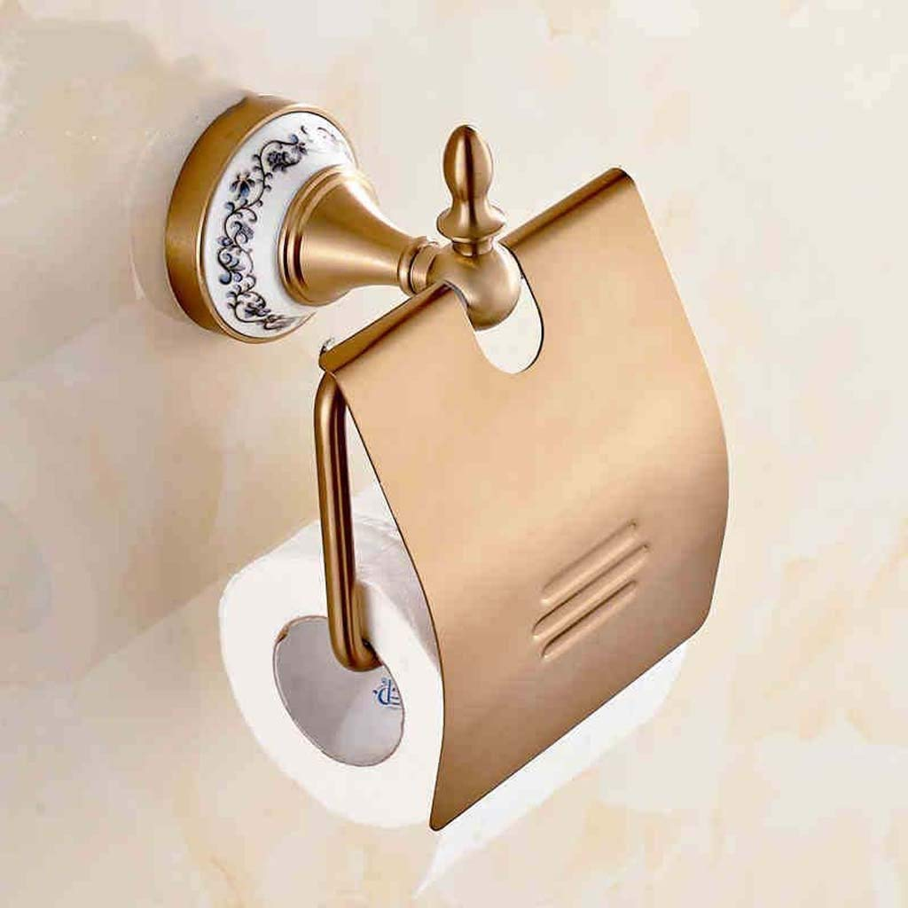 YAOHAOHAO Toilet toilet paper in boxes in the European style with the ancient aluminum the toilet paper toilet paper roll cartons in boxes