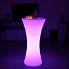 Hot selling 16 colors changing led poseur table party illuminated cocktail table