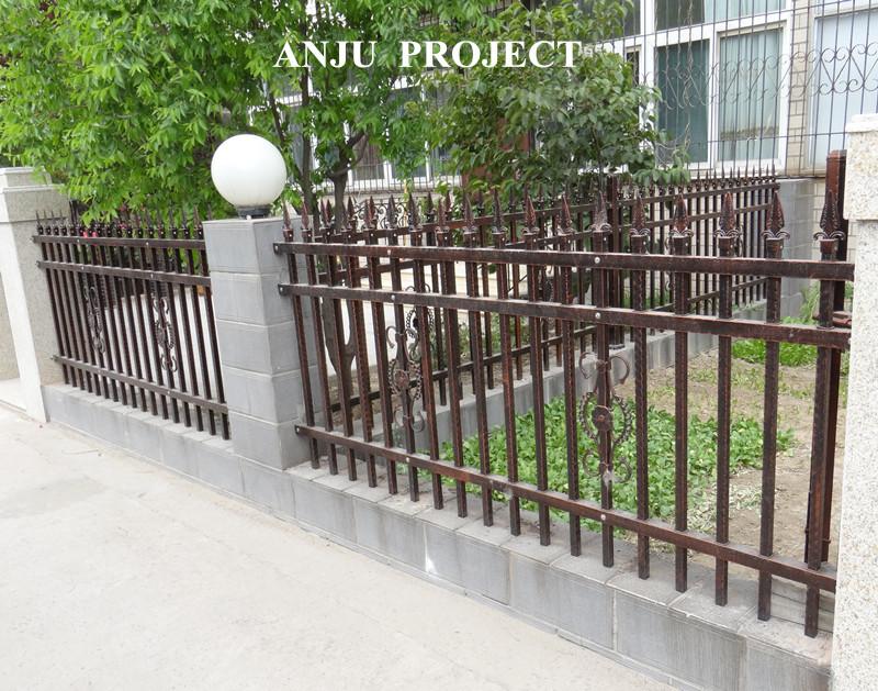 Dekorative Vorgefertigten Stahl Zaun Fur Garten Villen Hauser Dk002